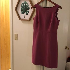 Ann Taylor Loft scalloped dress